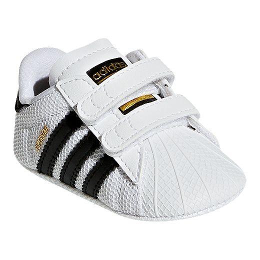 adidas Infant OG Superstar Crib Shoes - White/Core Black