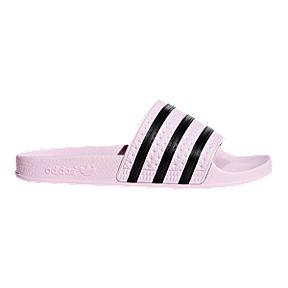 fa948974d1f02 adidas Women s Adilette OG Slide Sandals - Clear Pink Black