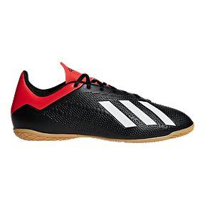 8295783ae99c adidas Men s X 18.4 Indoor Court Shoes - Black Red