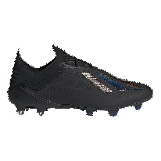 fb67fb86d adidas Men's X 18.1 Firm Ground Soccer Boots- Black/Blue | Sport Chek
