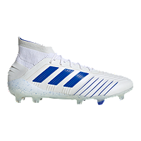 adidas Men's Predator 19.1 Firm Ground Shoes - White/Blue