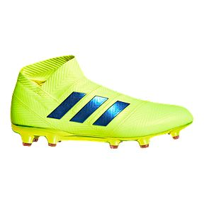 6165e21283e7 adidas Men s Nemeziz 18+ Firm Ground Shoes - Yellow Blue