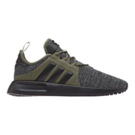 adidas Boys' X PLR Grade School Shoes - Dark Grey Heather/Core Black/Raw Khaki