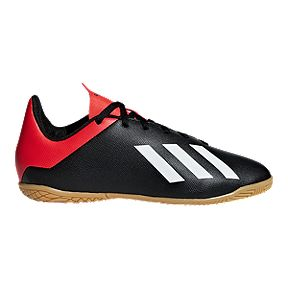 fe6ea1fe2b3 adidas Kids  X 18.4 Indoor Court Shoes - Black Red White