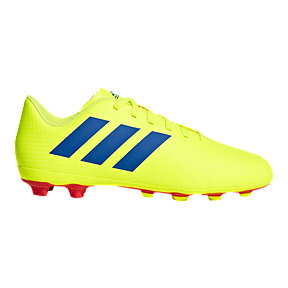 adidas Boys' Grade School Nemeziz 18.4 Firm Ground Shoes - Yellow/Blue