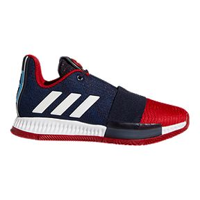 7260ac9c95e adidas Boys  Harden Vol 3 Grade School Basketball Shoes - Legend Ink Power  Red