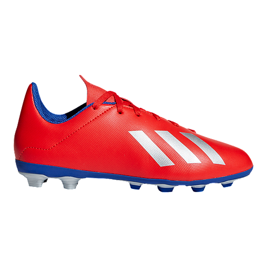 c92678c26 adidas Boys' Grade School X 18.4 Firm Ground Shoes - Red/Silver - RED