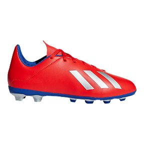outlet store 8e819 2c0a2 adidas Boys  Grade School X 18.4 Firm Ground Shoes - Red Silver