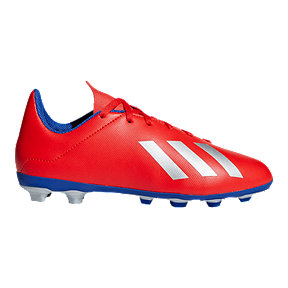 adidas Boys' Grade School X 18.4 Firm Ground Shoes - Red/Silver