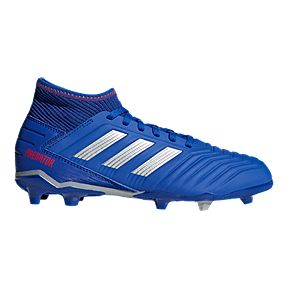 5f3f41382 adidas Boys' Grade School Predator 19.3 Firm Ground Shoes - Blue/Silver/Red