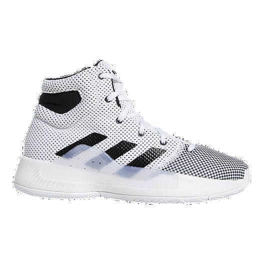 14239f7f4f59 adidas Boys  Pro Bounce Madness Grade School Basketball Shoes -  White Grey Core Black