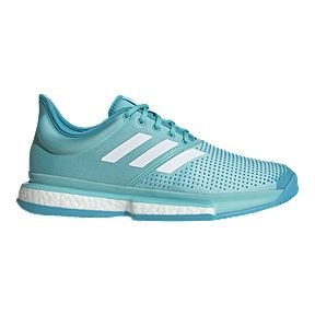 adidas Men s Solecourt Boost Parley Tennis Shoes - Blue White fb81813b42625