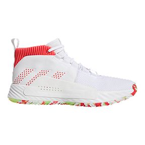 0ab7790c4 adidas Men s Dame 5 Basketball Shoes - White Red
