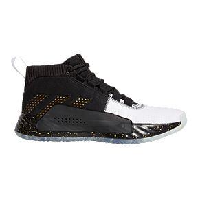09b20f406590 adidas Men s Dame 5 Basketball Shoes - Black White Gold
