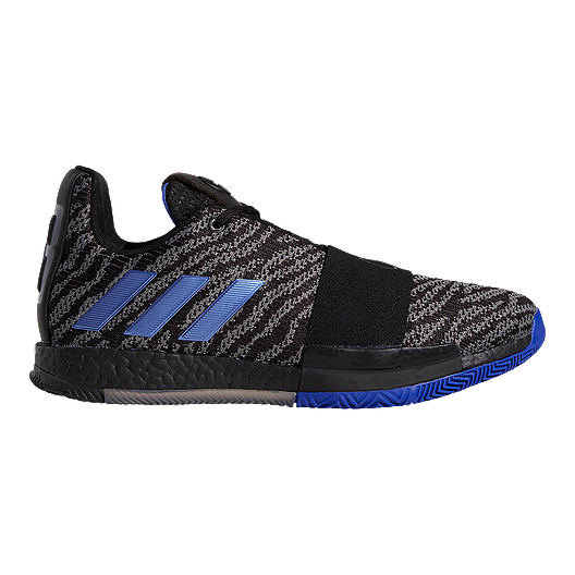 c78d67b5d5bd adidas Men s Harden Vol 3 Basketball Shoes - Black Blue Gray