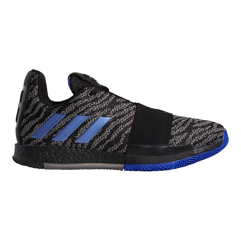 0b88854ed879 adidas Men s Harden Vol 3 Basketball Shoes - Black Blue Gray (191530714977)