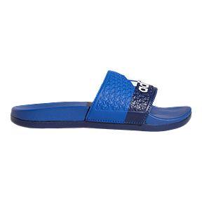 be2657075 adidas Boys  Adilette Comfort Slide Sandals - Blue Navy