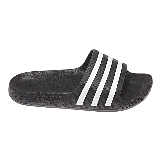 bd3dd2411 adidas Kids  Adilette Aqua Slides - Core Black White