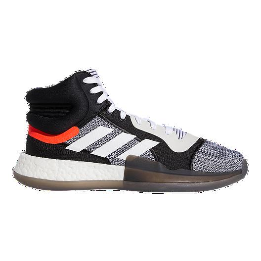 3512abe4df adidas Men s Marquee Boost Basketball Shoes - White Black Aero ...