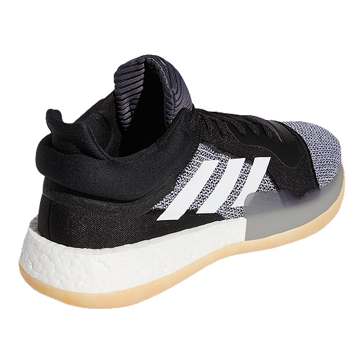 adidas Men's Marquee Boost Low Basketball Shoes BlackWhite