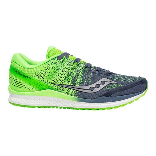 572ef19de4efc Saucony Men's Everun Freedom ISO 2 Running Shoes - Grey/Green