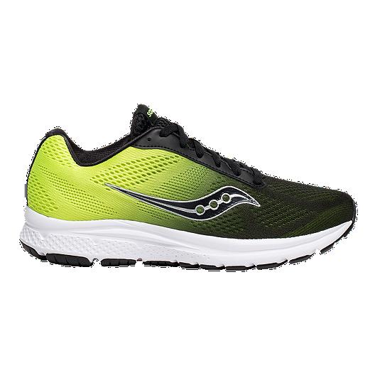 3d4b9f5b Saucony Men's Grid Nova Running Shoes - Black/Green | Sport Chek