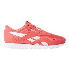 18f01b701c64d Reebok Women s Classic Nylon Shoes - Pink White