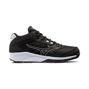 3502e8c7b9f4 Mizuno Men s Dominant All Surface Mid Turf Shoes - Black White