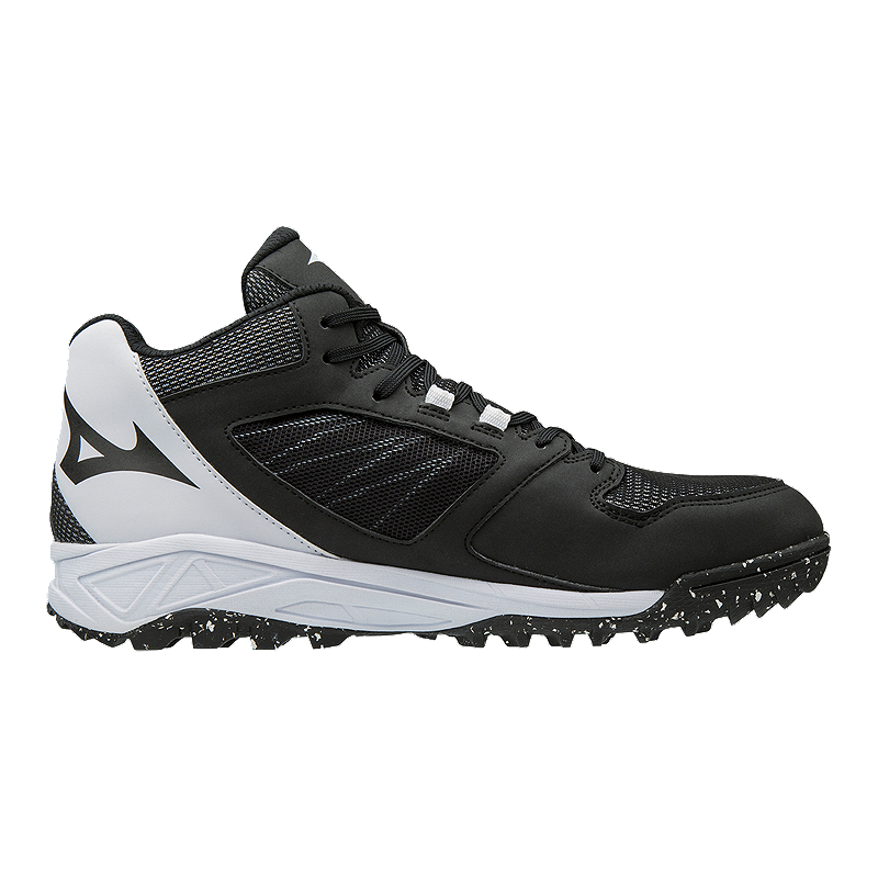 Mizuno Men s Dominant All Surface Mid Turf Shoes - Black White ... d4bab49bf