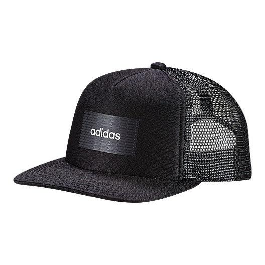 d7f0eb8ee adidas Men's H90 Linear Trucker Hat - Black