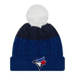 3d66886bcc1abe Toronto Blue Jays Women's New Era Layered Up Pom Knit
