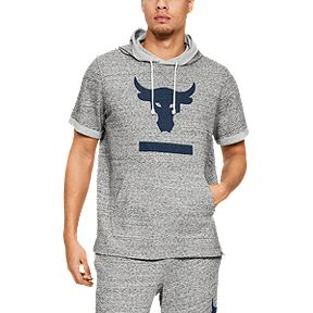 e529ee12d Under Armour Men's Project Rock Terry Short Sleeve Hoodie