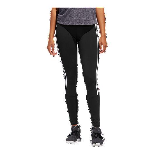 4ea8ad5c871 adidas Women's Believe This 3 Stripe High Rise 7/8 Tights | Sport Chek