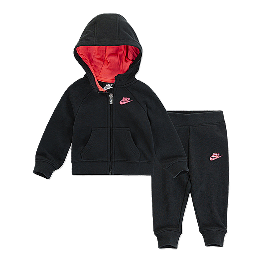 4cb2770ed5 Nike Baby Girls' Futura Full Zip Hoodie N Jogger Set | Sport Chek