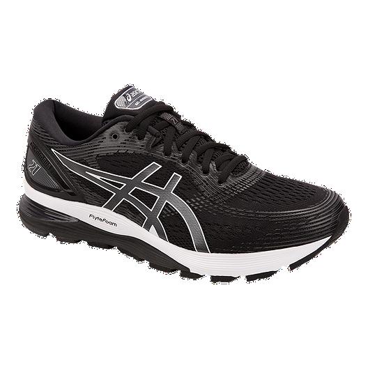best sneakers d3de6 707d1 ASICS Men's Gel Nimbus 21 4E Running Shoes - Black/Grey