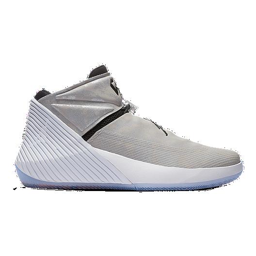 Nike Men s Jordan Why Not Zero.1 Basketball Shoes - Grey Black White ... 47d692b83