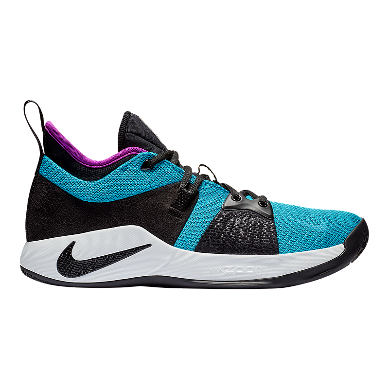 best website 39960 317cd Nike Men s PG 2 Basketball Shoes - Blue Lagoon Black Violet   Sport Chek