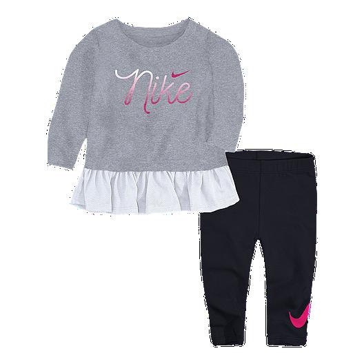 8873eaef2a Nike Toddler Girls' Script Tunic N Legging Set - Black | Sport Chek