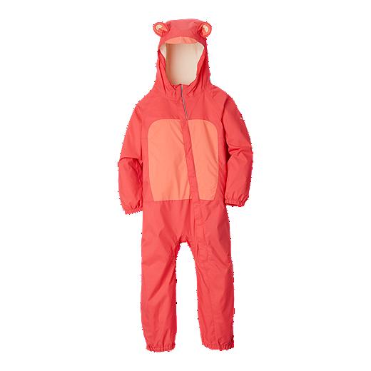 29f0f098f Columbia Infant Girls' Kitteribbit Rain Suit - BRIGHT GERANIUM/HOT CORAL