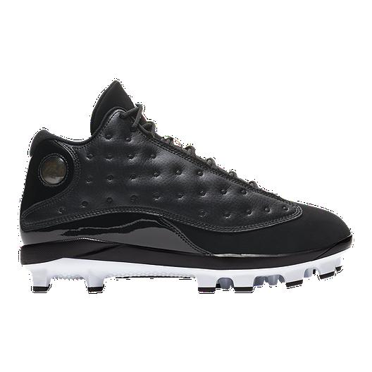 6fb3e51430 Nike Men's Air Jordan Retro 13 Mid Cut Baseball Cleats - Black/White |  Sport Chek