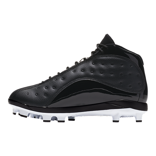 różne kolory klasyczne dopasowanie najlepiej tanio Nike Men's Air Jordan Retro 13 Mid-Top Baseball Cleats - Black/White