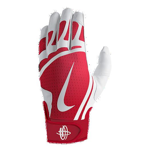 b8c23b7f8e0d Nike Huarache Edge Batting Glove Youth - White Red
