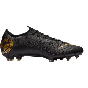 4adb8f224cd3 Nike Unisex Mercurial Vapor 12 Elite FG Soccer Cleats - Black Gold