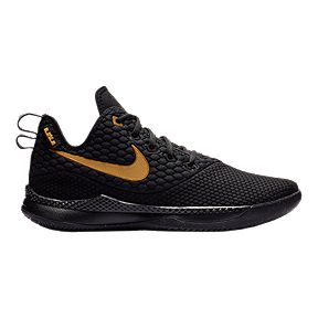 c701eb60a81 Nike Men s LeBron Witness III Basketball Shoes - Black Gold