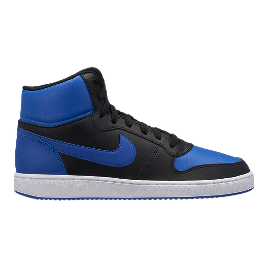 ad2161ae7be Nike Men s Ebernon Mid Cut Shoes - Game Royal Black White