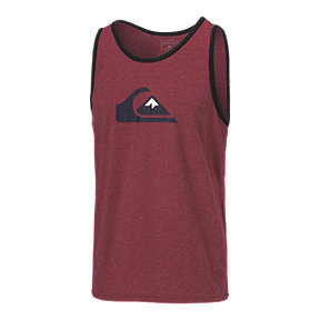 Quiksilver Men's MW Logo Tank - Brick Red Heathered