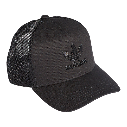 3c31b2f752 adidas Originals Women's Trefoil Trucker Hat - Black