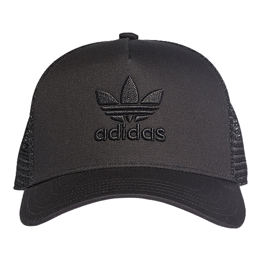 a4304215ef308 adidas Originals Women s Trefoil Trucker Hat - Black