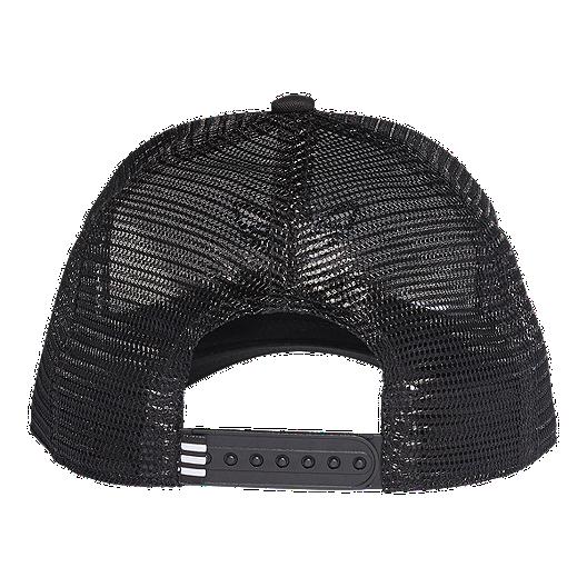 85b954739 adidas Originals Women's Trefoil Trucker Hat - Black