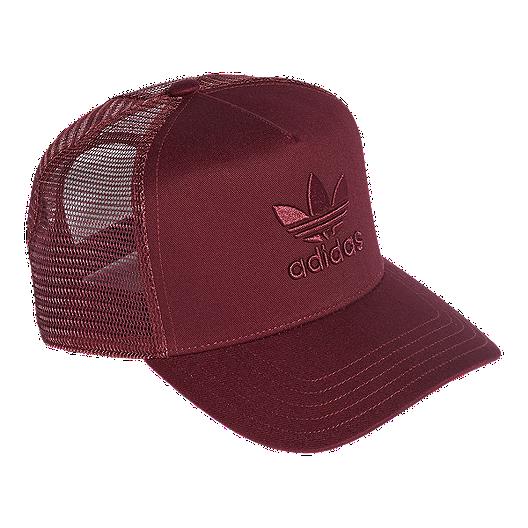 9f584d91063 adidas Originals Women s Trefoil Trucker Hat - Maroon